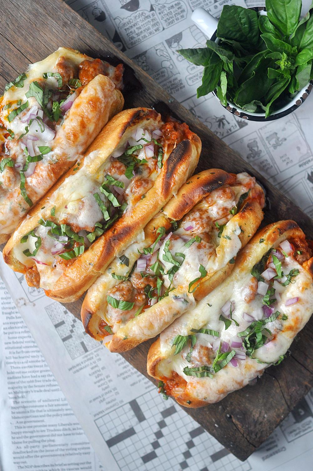 Garlic Butter Italian Sausage Sandwiches - Little Kitchen. Big World