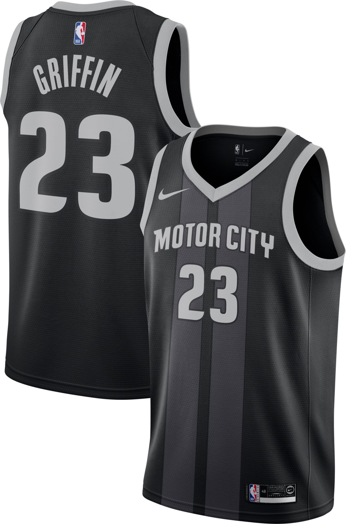 e7c2de27cee Nike Men s Detroit Pistons Blake Griffin Dri-FIT City Edition Swingman  Jersey