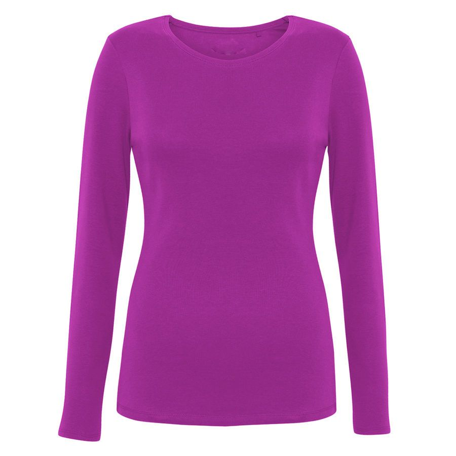 New M/&S Plain Long Sleeve Top Ladies Tshirt Pure Cotton Plus Size