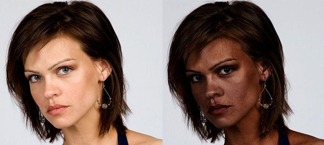 Como Transformar Pele Branca Em Negra No Photoshop Escurecimento