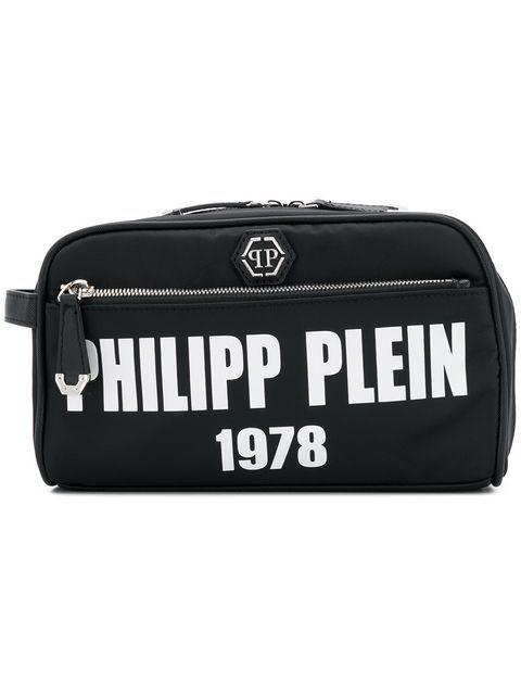 1c7cb00d9f PHILIPP PLEIN logo zipped wash bag. #philippplein #   Philipp Plein ...