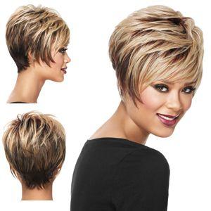 Short Hair Short Stacked Hair Short Straight Hair Thick Hair Styles