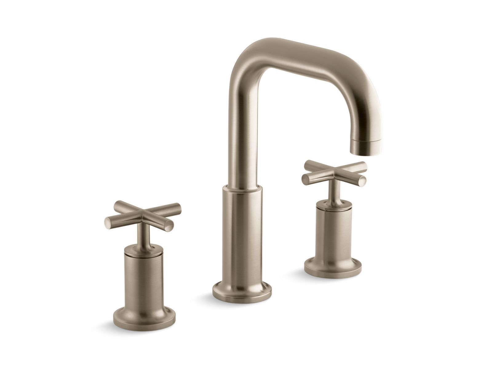 high mount faucet kohler flow gold bathroom trim k faucets bath pin purist deck