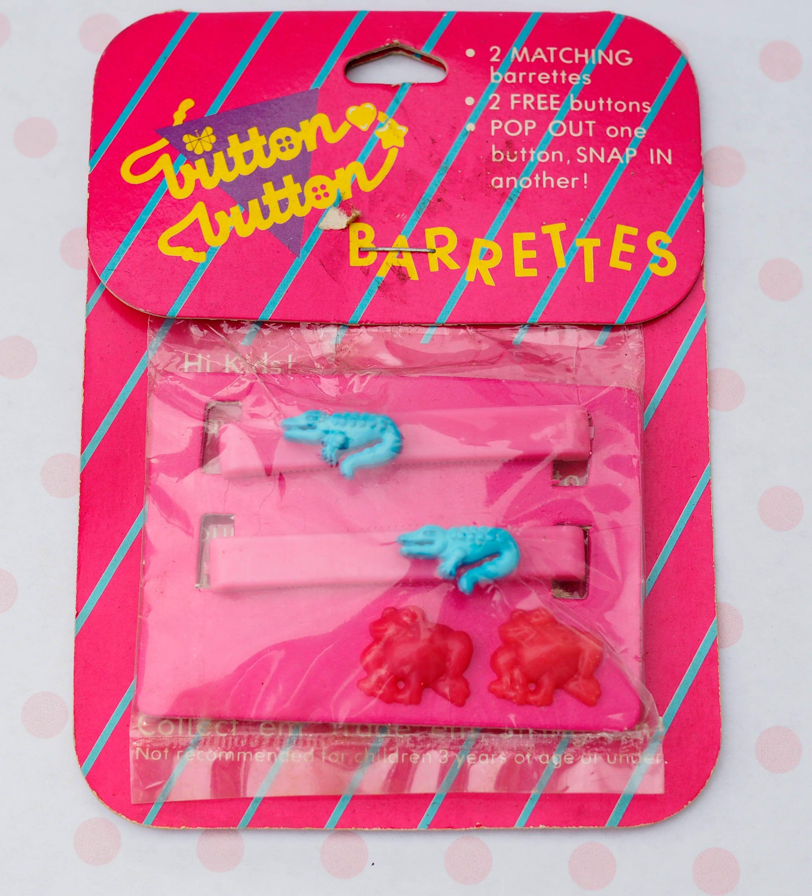 Vintage Plastic Barrettes 80s Barrettes Crocodile Frog Barrettes Vintage Hair Pin Hair Clip Bobby Pin Vintage Je Pink Barrettes Vintage Jewelry Barrettes
