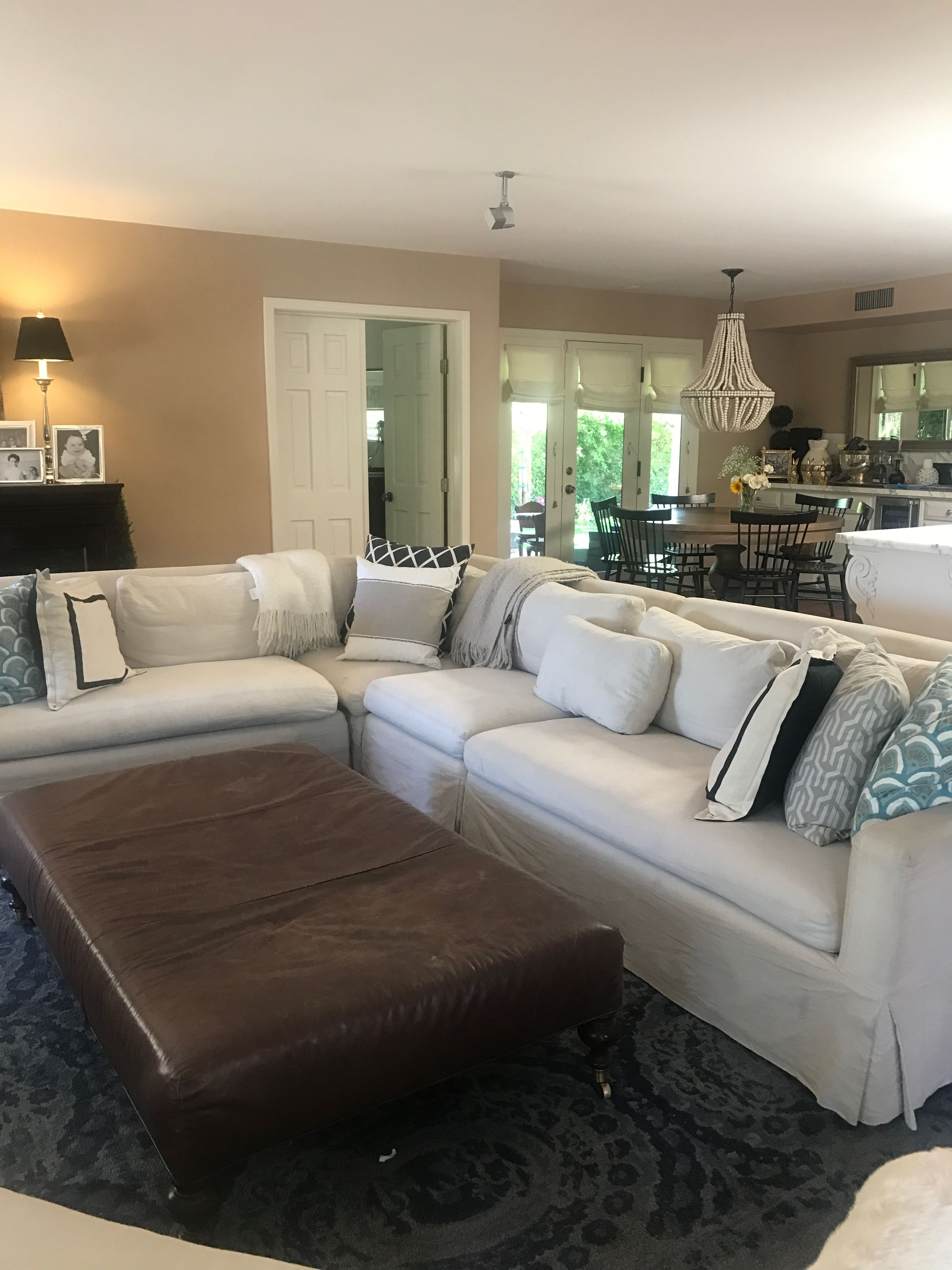 Restoration Hardware sectional. Belgian track arm. Will go