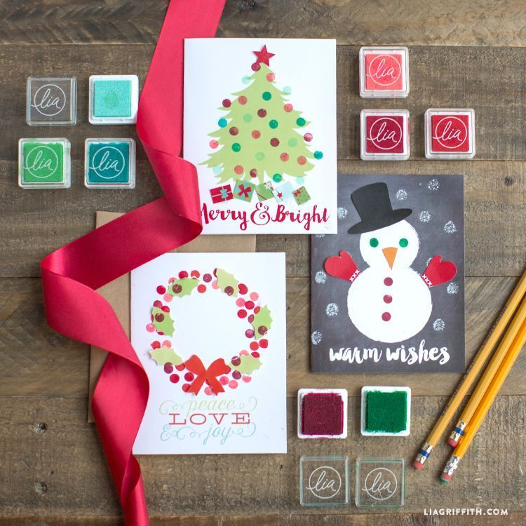 Eraser Stamp Holiday Cards for Kids #eraserstamp Make your own super-cute handmade Holiday card set with these gorgeous printable patterns by handcrafted lifestyle expert Lia Griffith. #eraserstamp Eraser Stamp Holiday Cards for Kids #eraserstamp Make your own super-cute handmade Holiday card set with these gorgeous printable patterns by handcrafted lifestyle expert Lia Griffith. #eraserstamp