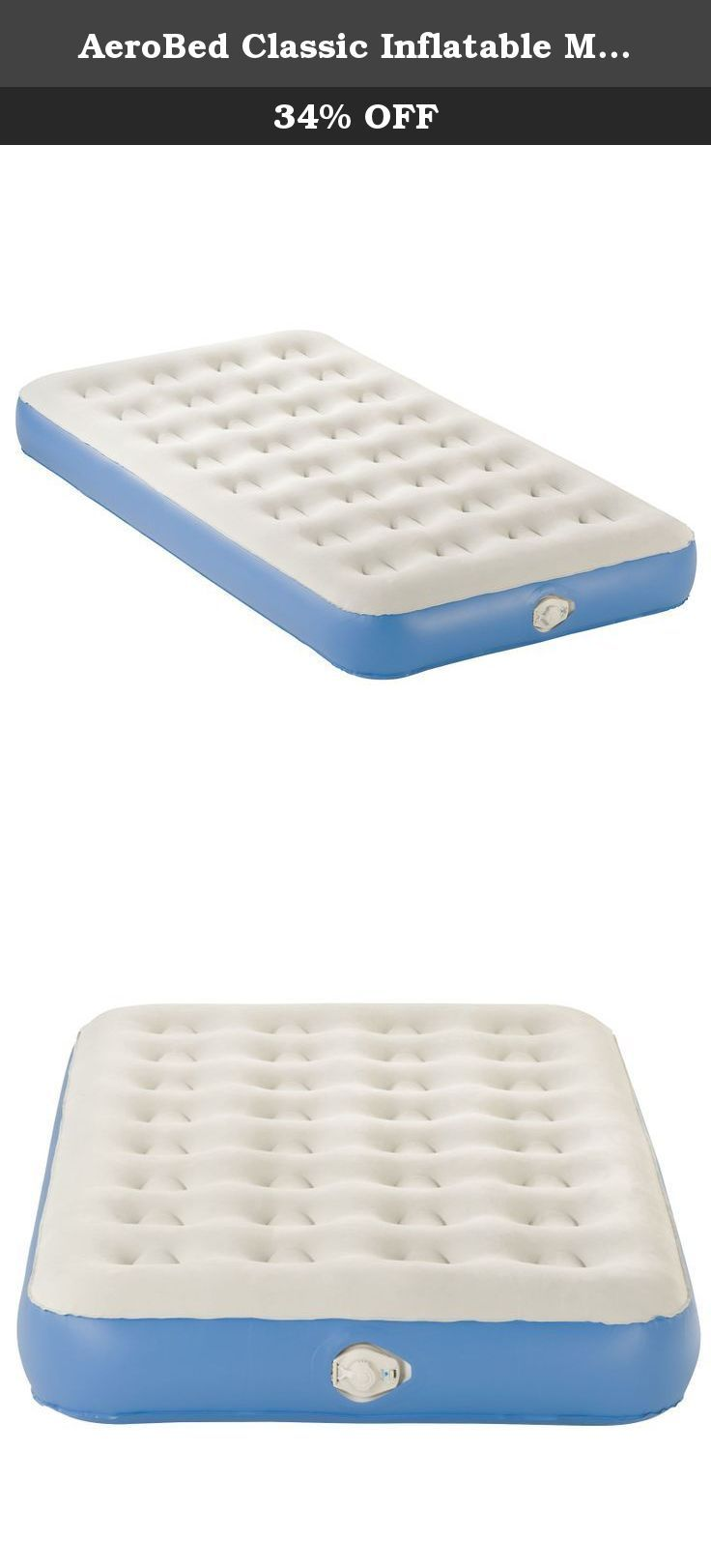 AeroBed Classic Inflatable Mattress with Pump, Twin. Easily turn any room  into a spare