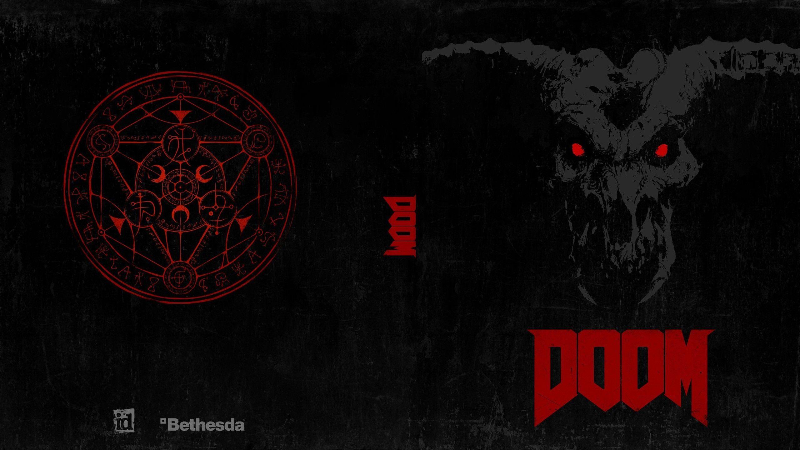 2560x1440 2560 x 1440 Original Doom game, Doom cover