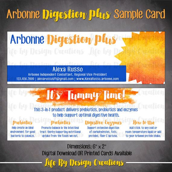 Digestion Plus Sample Card DOWNLOAD Ar-Bonne Voyage! Pinterest - Sample Cards