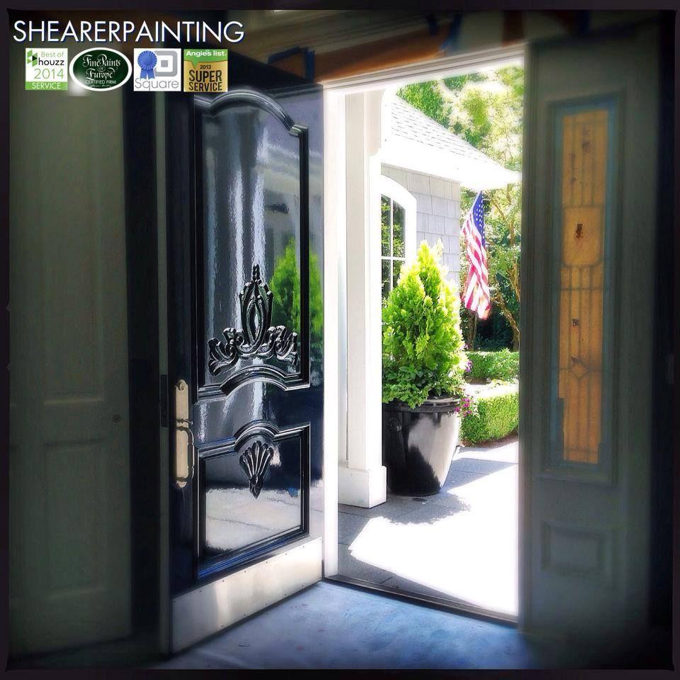 High Gloss Black Front Door, Shearer Painting, Black