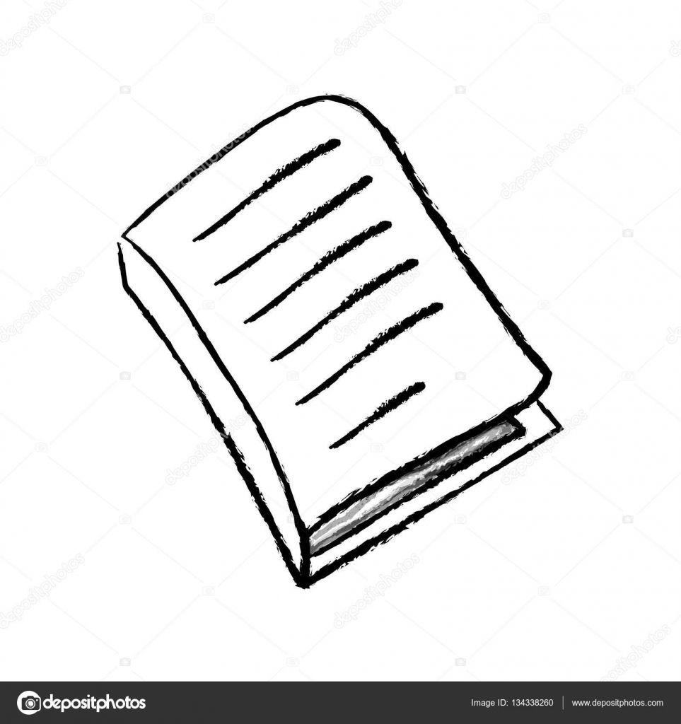 Buch Zeichnen Aufgeschlagenes Buch Offenes Buch Zeichnen