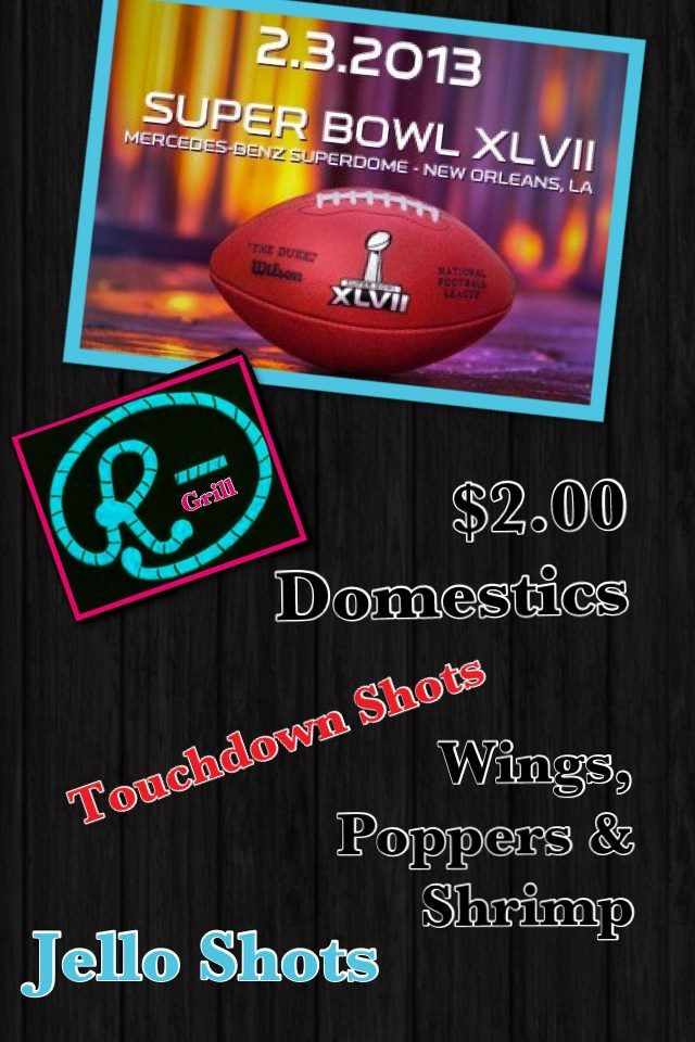 sunday a bowl of fun and food super bowl party at the rbar