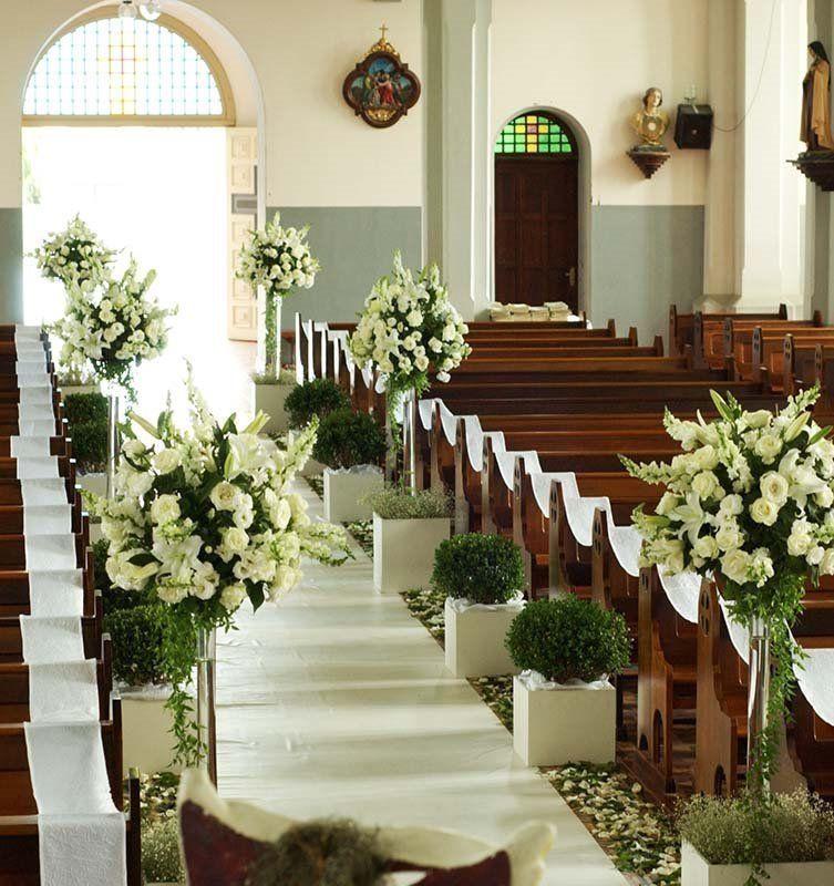 Nosso quadradinho decorao da igreja drapes and aisles decor looking at wedding aisle decorations junglespirit Images