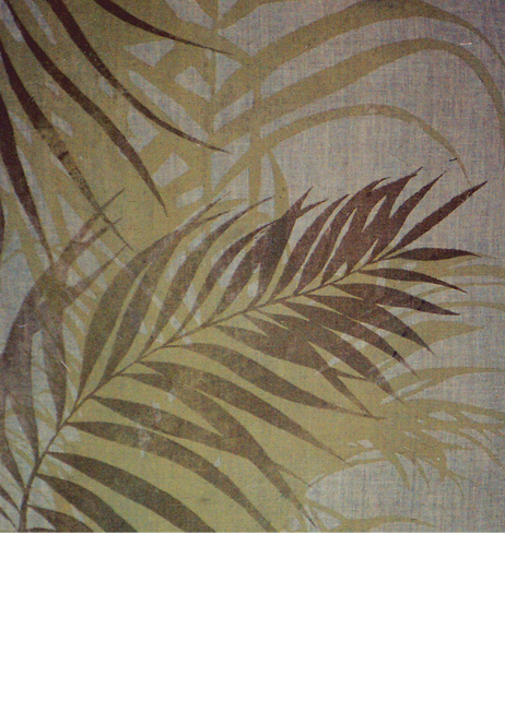 Palms hand screen-printed fabric yardage / meterage, designed by Philippa Wilkinson of Pip Willy.