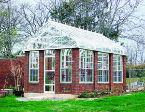 I would love to have a greenhouse!