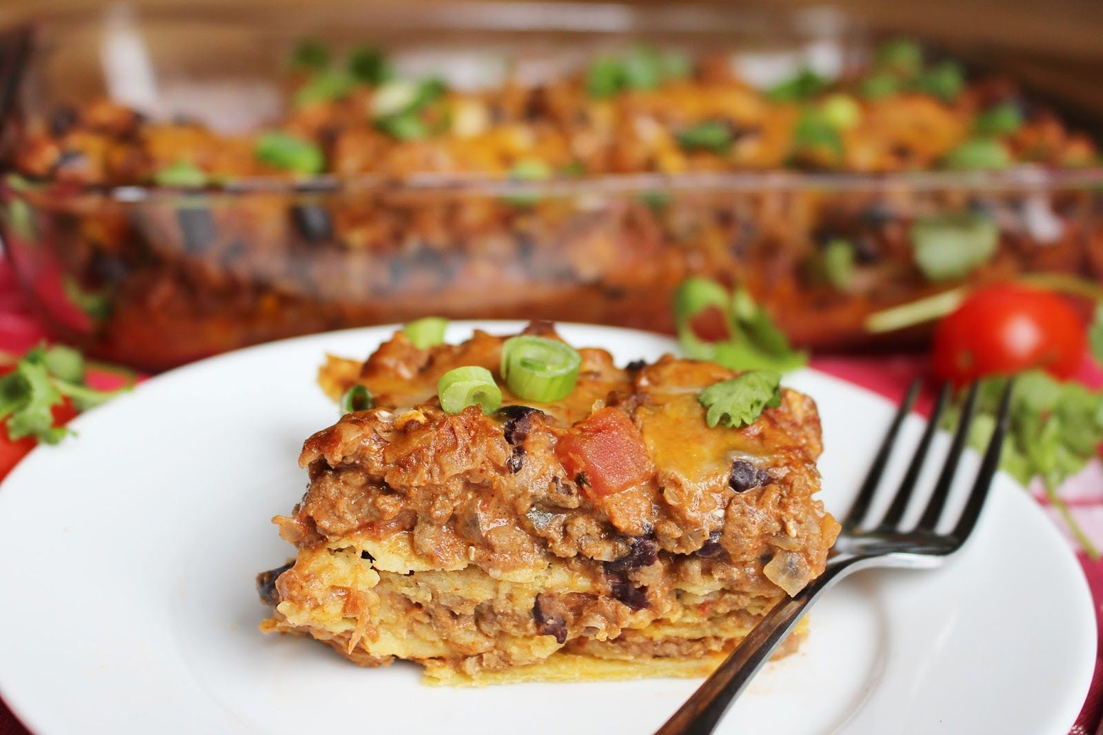 Taco lasagna from Kylee's Kitchen combines the flavor of tacos with the comfort of a casserole