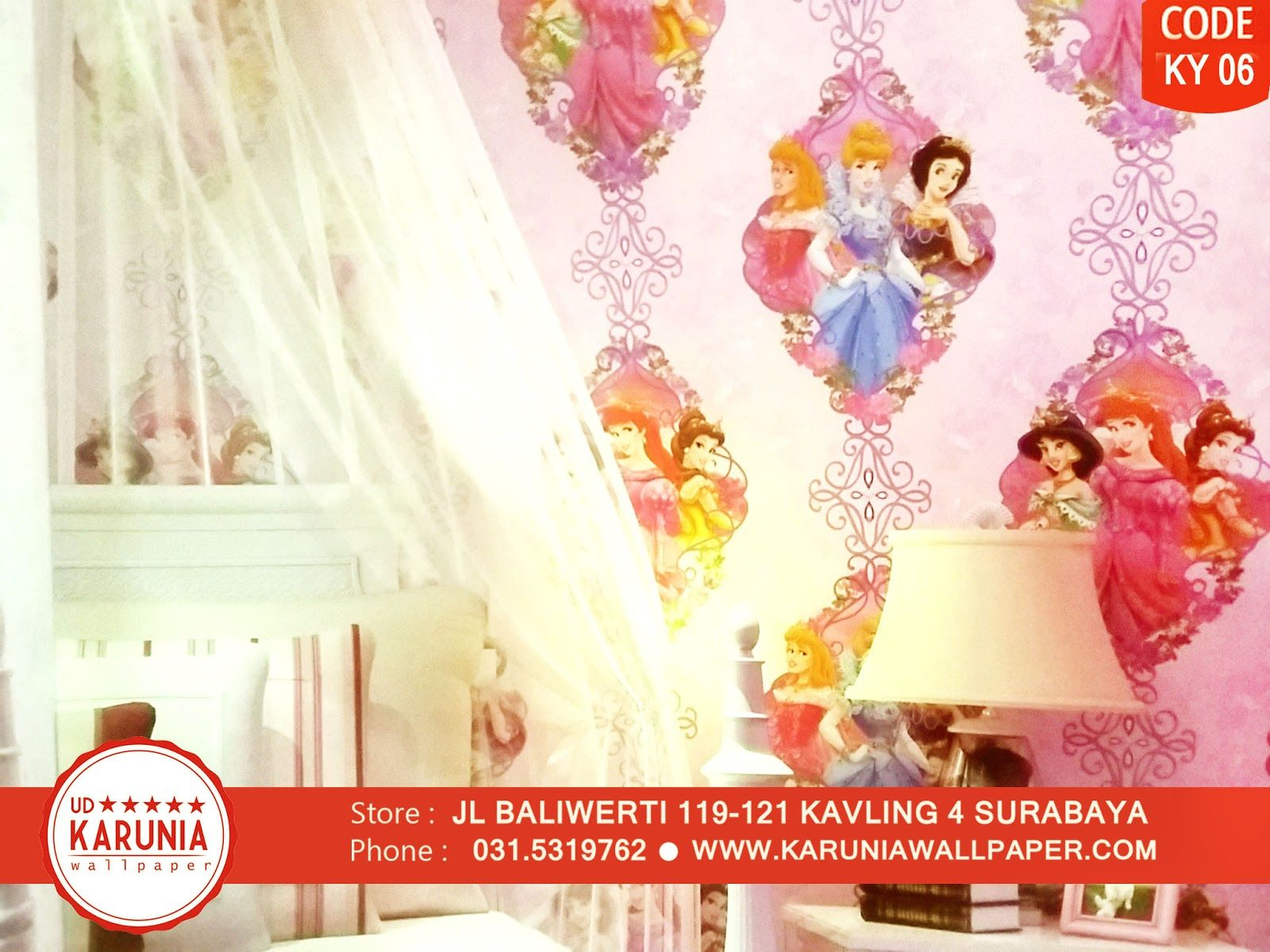 Jual Wallpaper Dinding Warna Warni Lucu Kamar Anak Surabaya