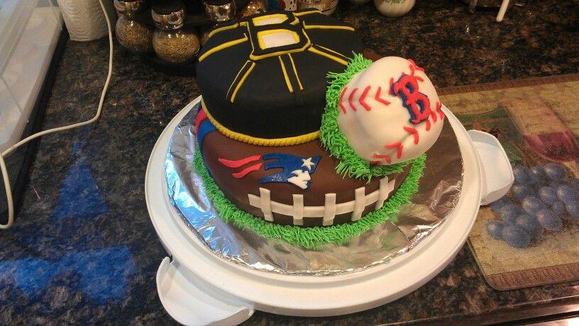 Daves Boston sports cake Cakes Pinterest Boston sports Cake