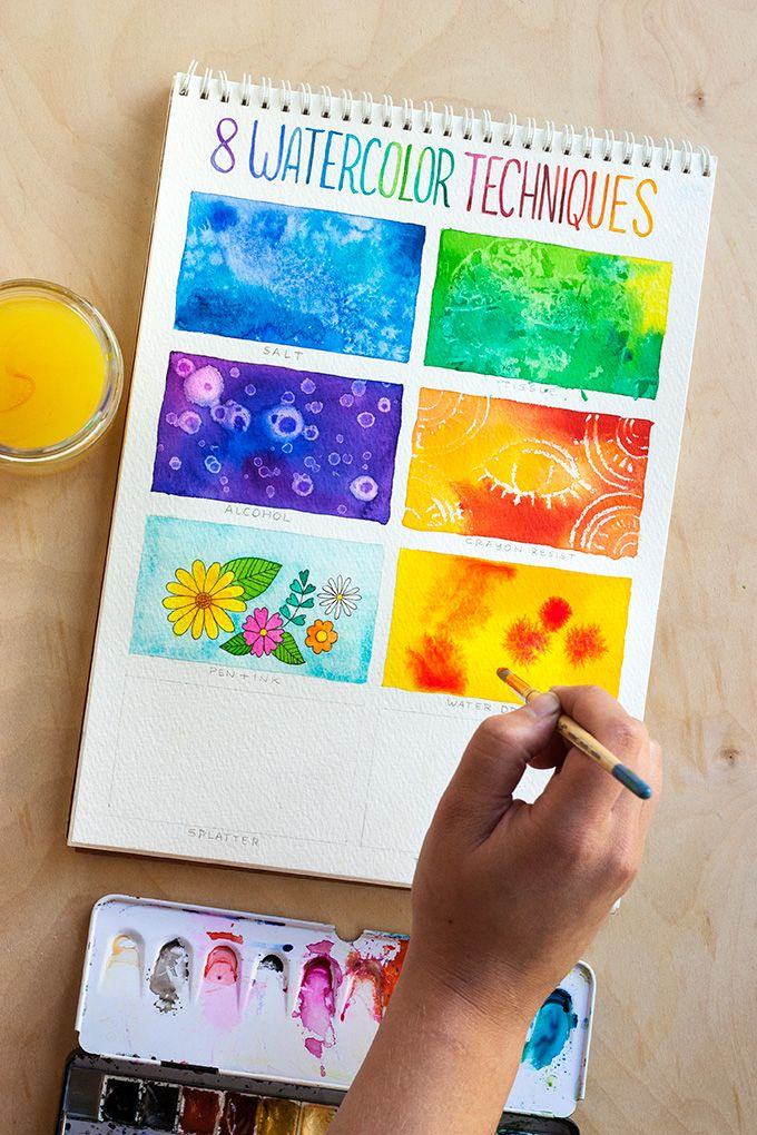 Tecnica 6 Goteo Pinta La Base Del Color Deseado Sin Que Se