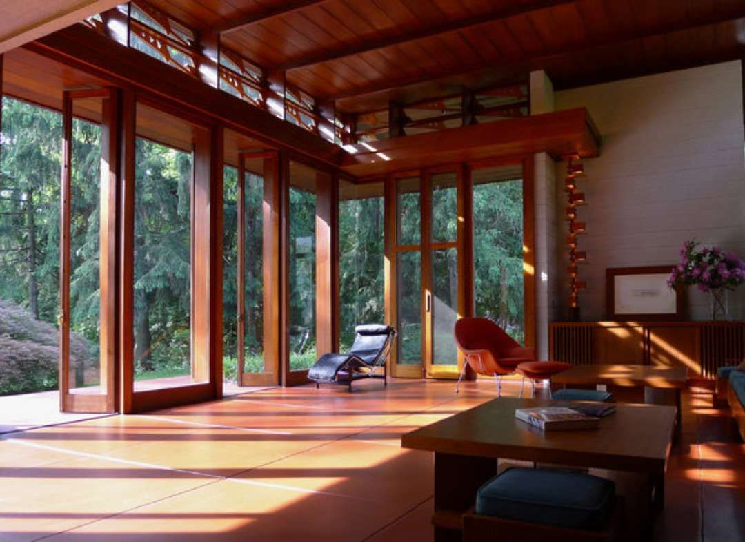 Backman wilson house by fllw frank lloyd wright pinterest frank lloyd wright lloyd wright Frank lloyd wright the rooms interiors and decorative arts