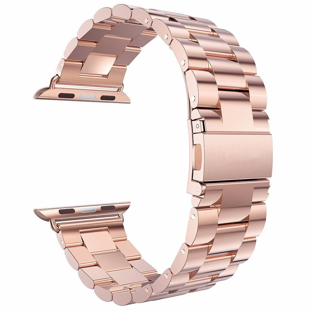 Amazon Com Apple Watch Band Pugo Top Stainless Steel Metal Apple Replacement Watch Wrist Band Rose Gold 42m Apple Watch Bands Watch Bands Apple Watch Strap