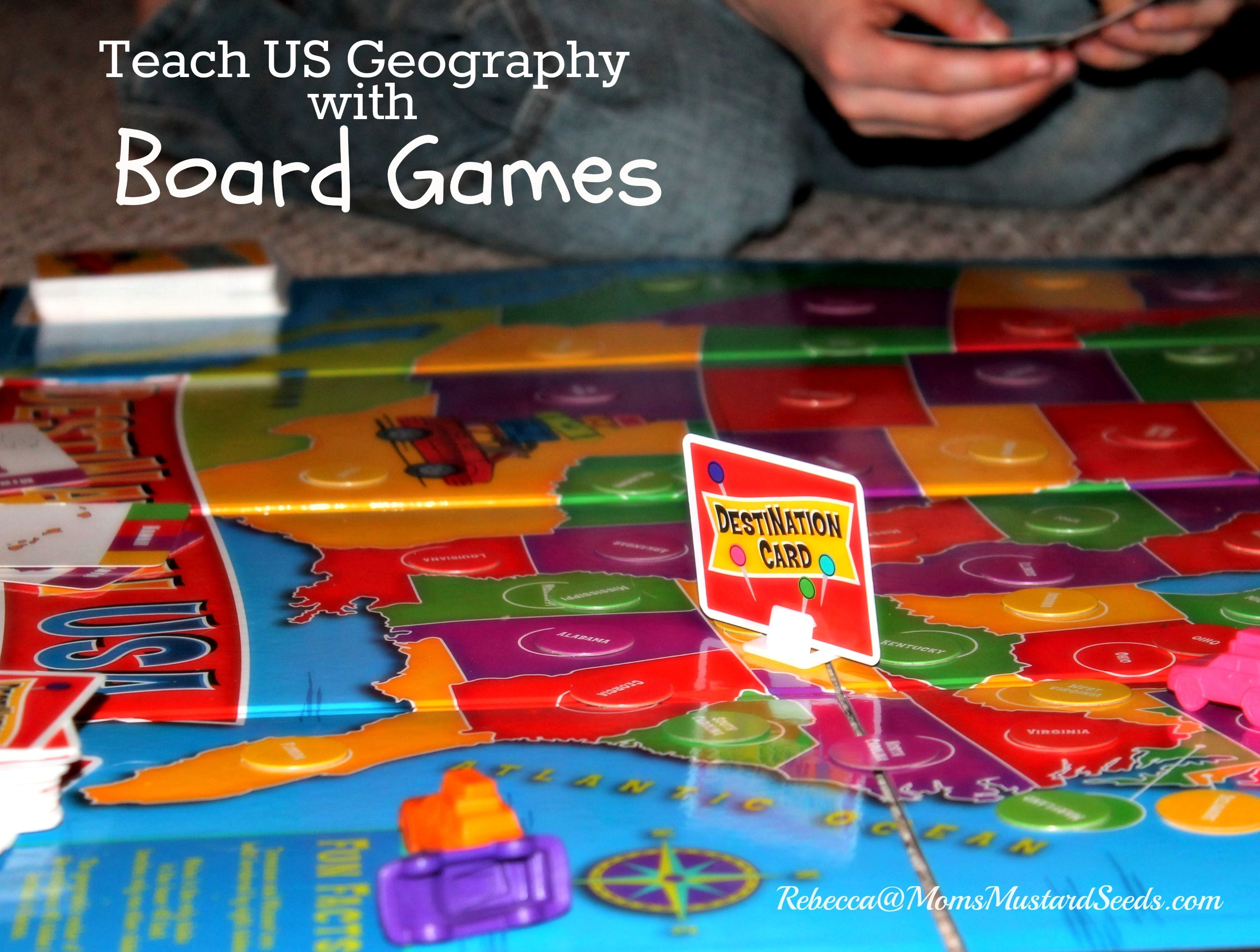 Teach US Geography With A Board Game Geography Gaming And - Us geography map game