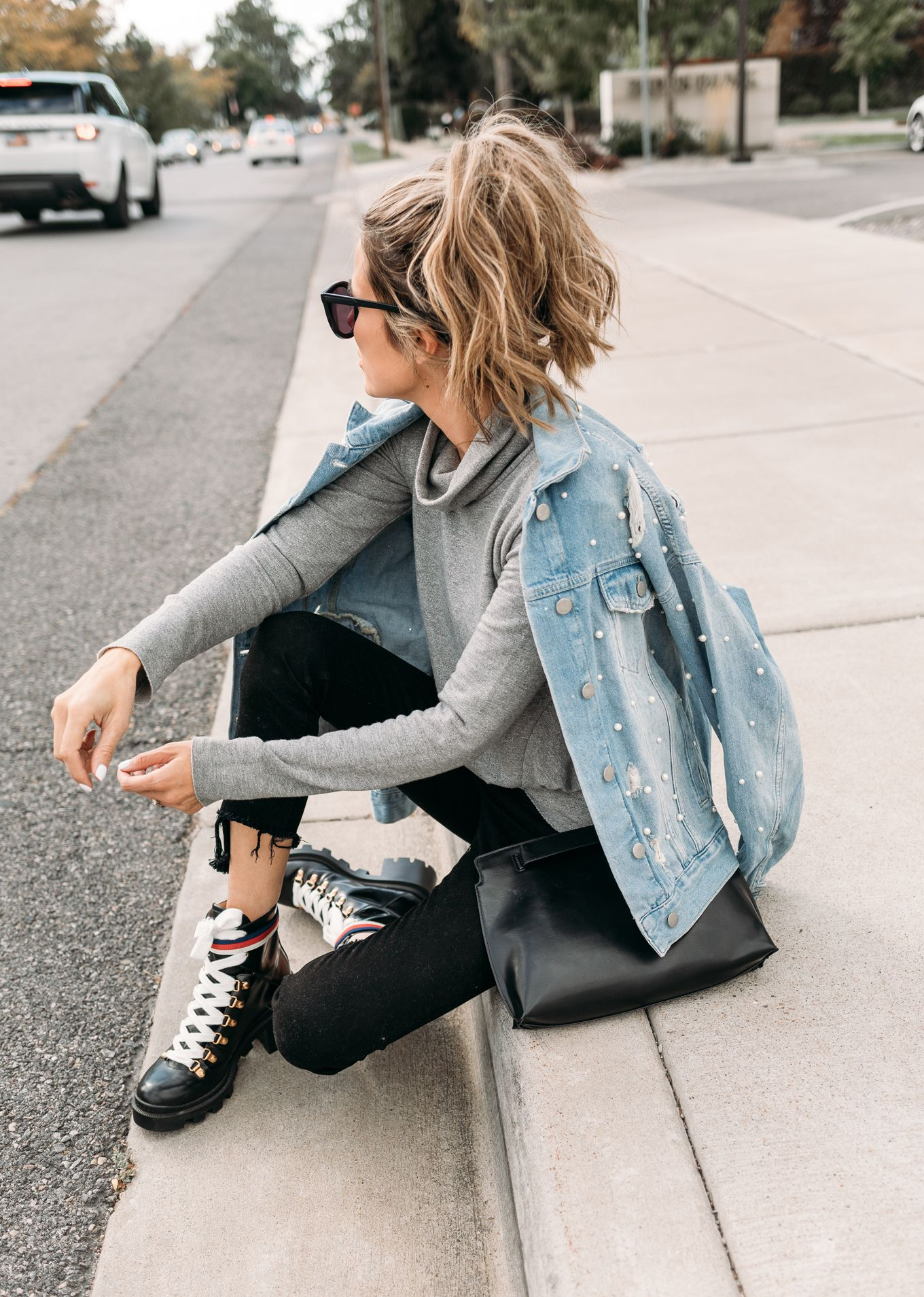 The Boots I Can T Stop Wearing Hello Fashion Crop Top With Jeans Denim Outfit Denim Women