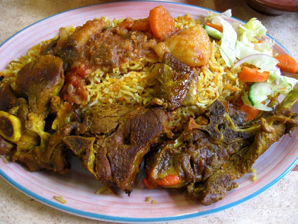Nasi Daging Kambing Panggang Simple Daging Kambing Makanan Makanan Enak