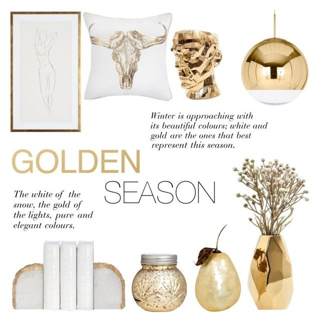 """Golden Season"" by c-silla ❤ liked on Polyvore featuring interior, interiors, interior design, home, home decor, interior decorating, Nate Berkus, H&M, Tom Dixon and Visionnaire"