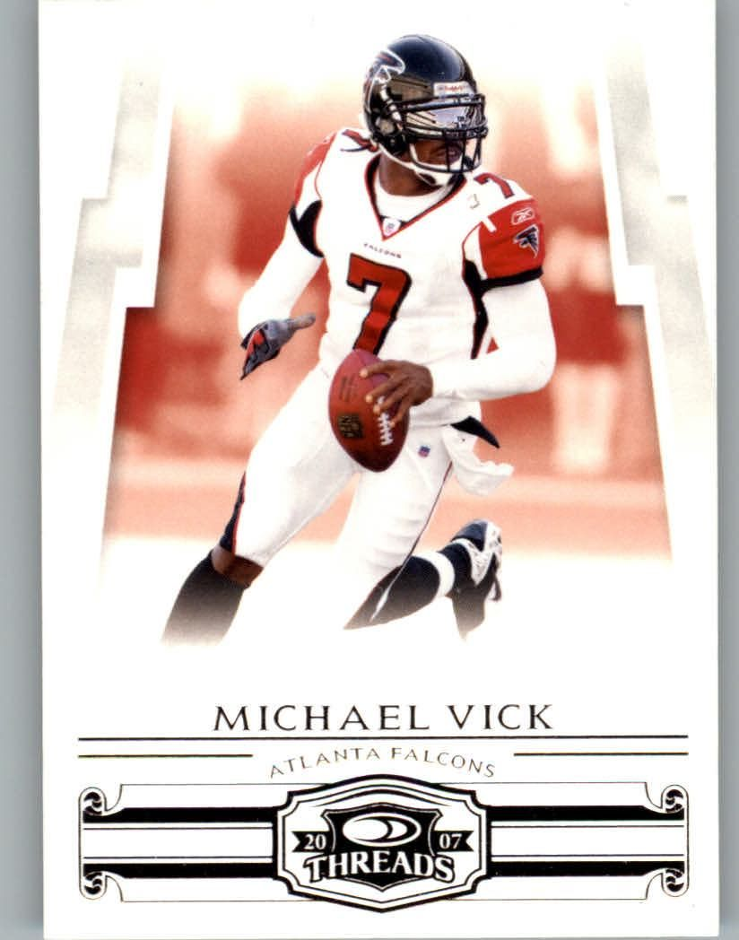 2007 Donruss Threads 4 Michael Vick Football Card (With
