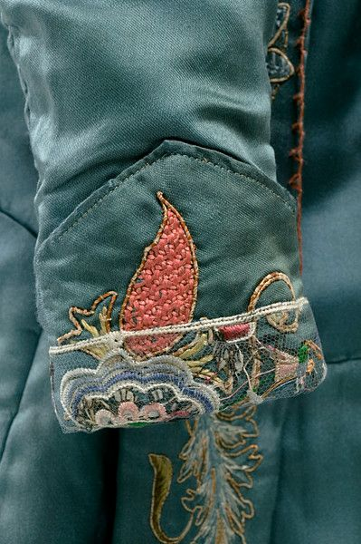 1890 Embroidered coat cuff detail