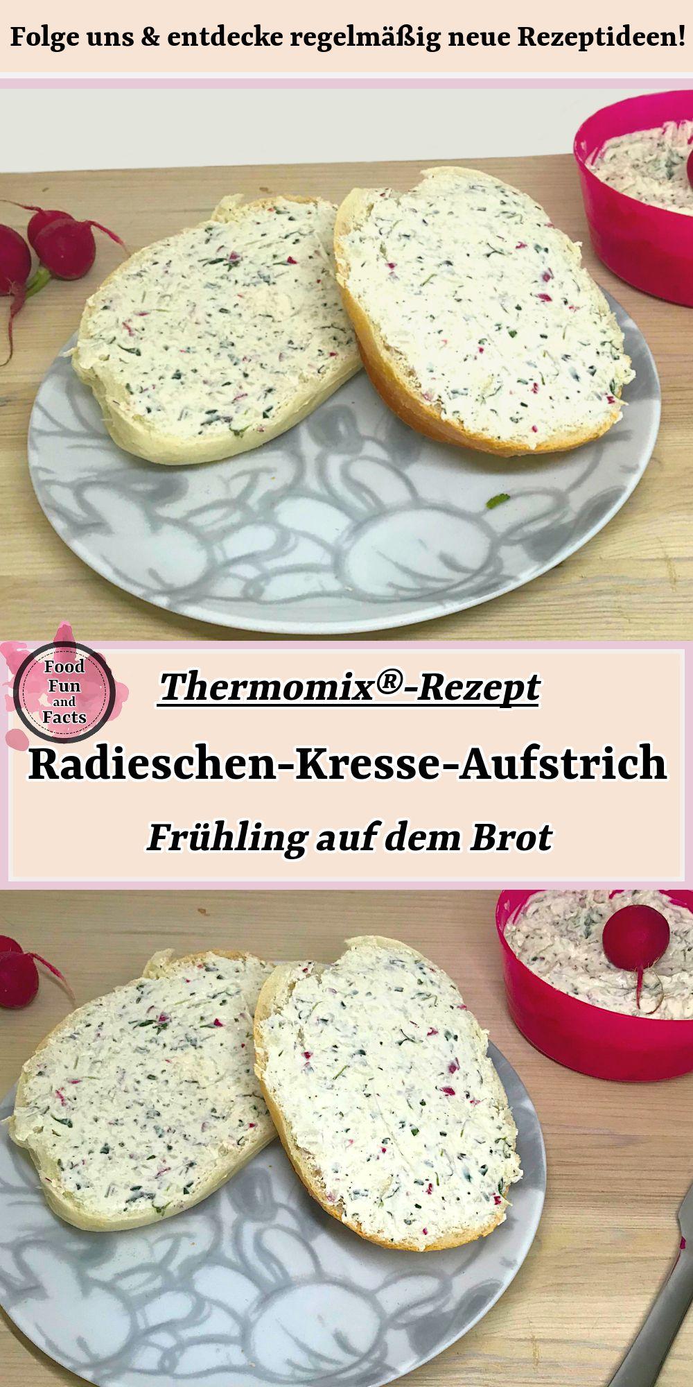Radieschen-Kresse-Aufstrich – Frühling auf dem Brot | Thermomix-Rezept