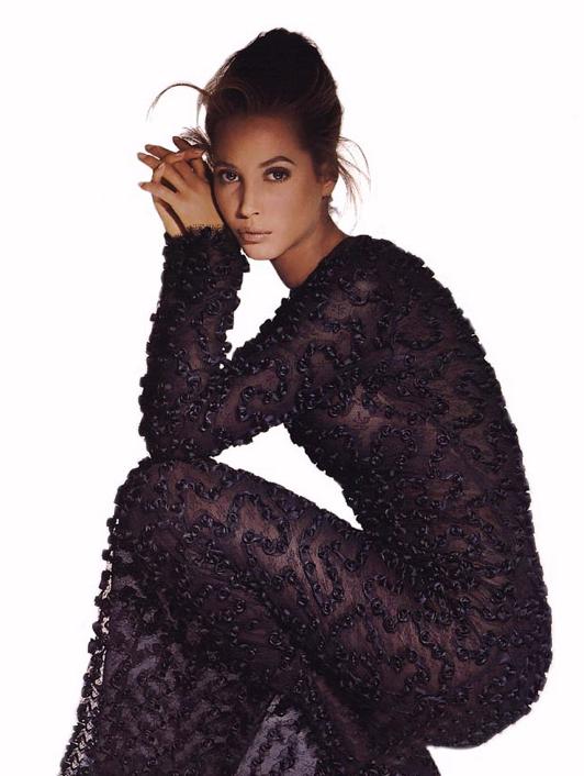Christy Turlington, photographed by Irving Penn for Calvin Klein 1988'