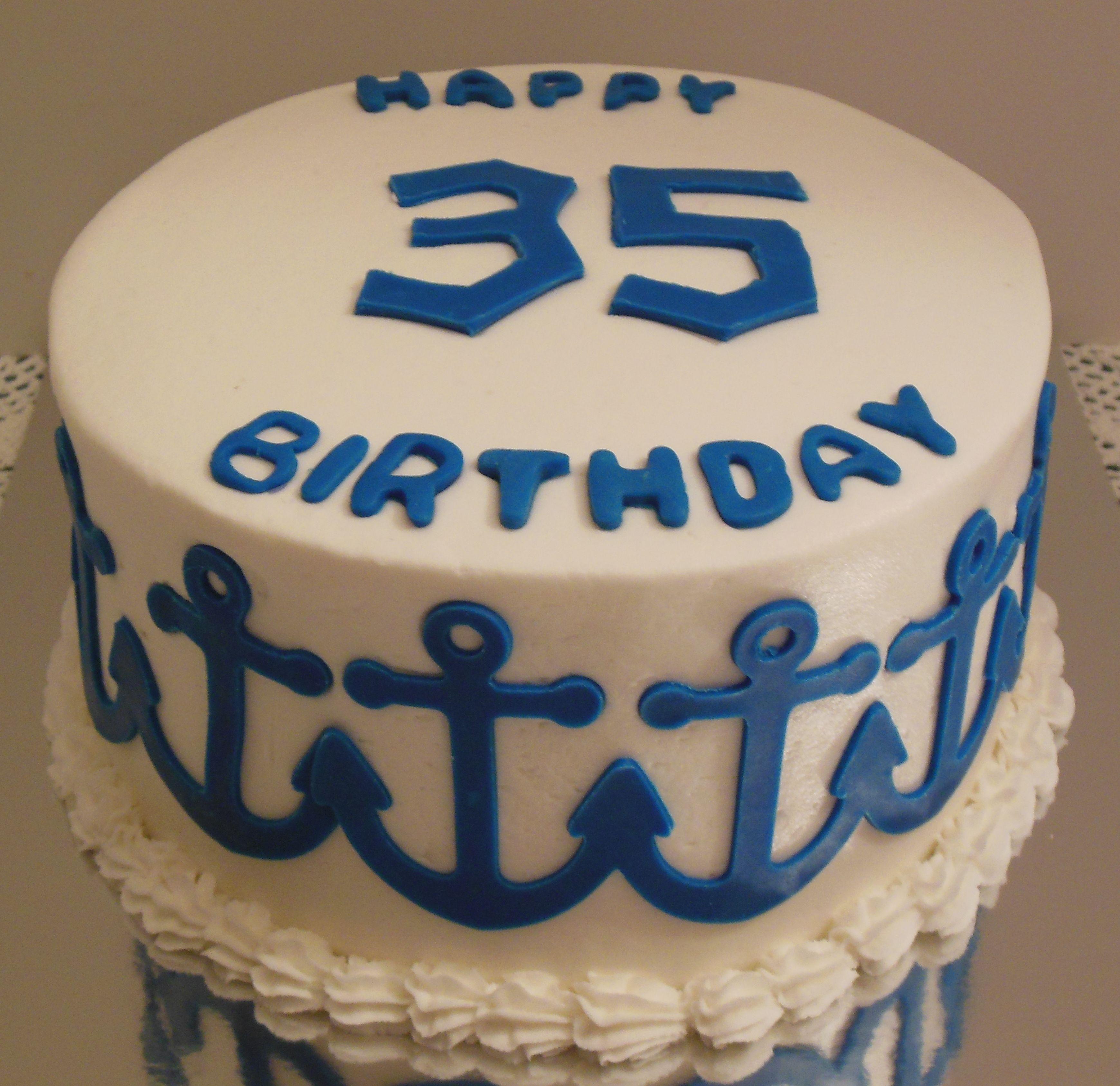 Th Birthday Cake My Cakes Pinterest Birthday Cakes Th - 35th birthday cake ideas