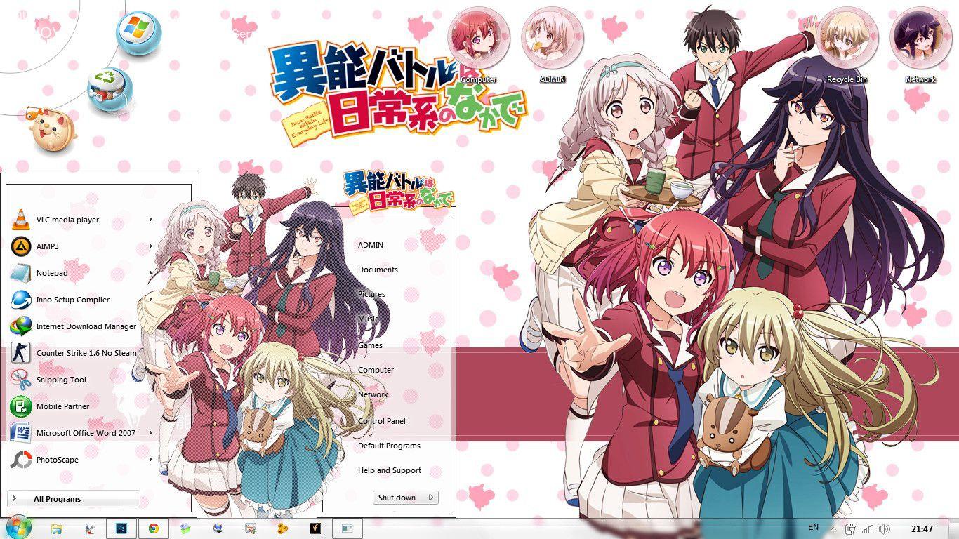 [Theme Win 7] Inou Battle wa Nichijoukei no Naka de