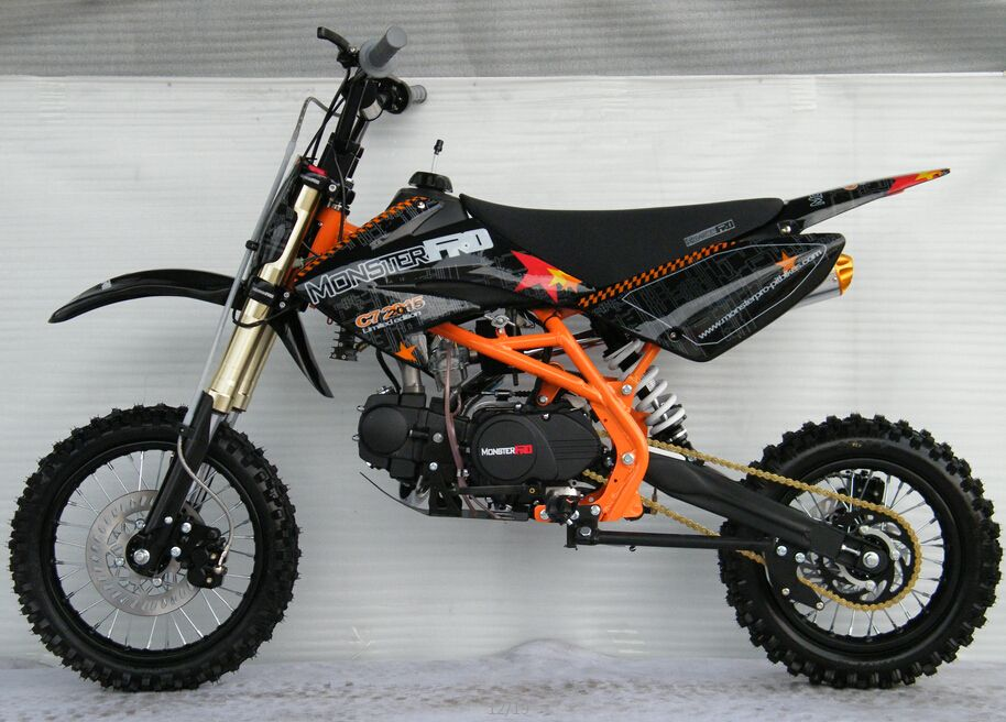 pitbike cross c7 125 c c monsterpro pit bike. Black Bedroom Furniture Sets. Home Design Ideas