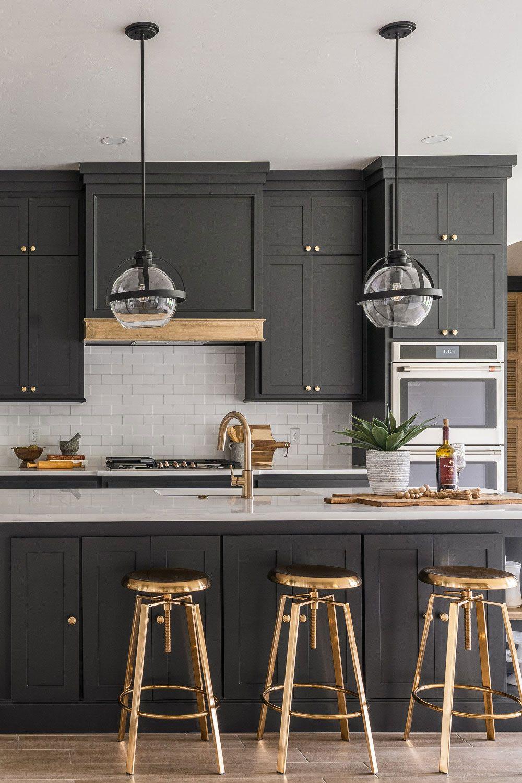 34+ Dark Gray Kitchen Cabinets (COOL & ELEGANT) - Cabinets
