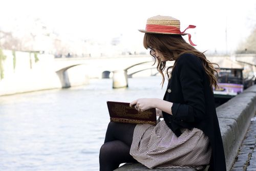 Geeking out on the banks of the Seine.  Yeah, I could.  And have.
