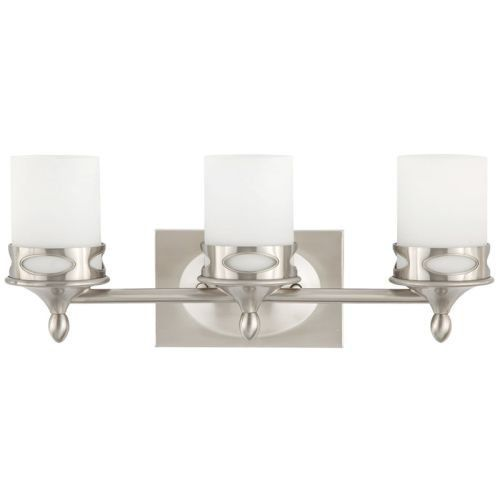 Photo of Park Harbor PHVL2173 Hogue 20″ Wide 3 Light Bathroom Fixture, Brushed Nickel – Home & Living …