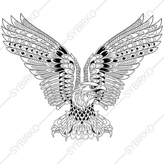Epic Eagle Coloring Book 36 Eagle Coloring Page Adult
