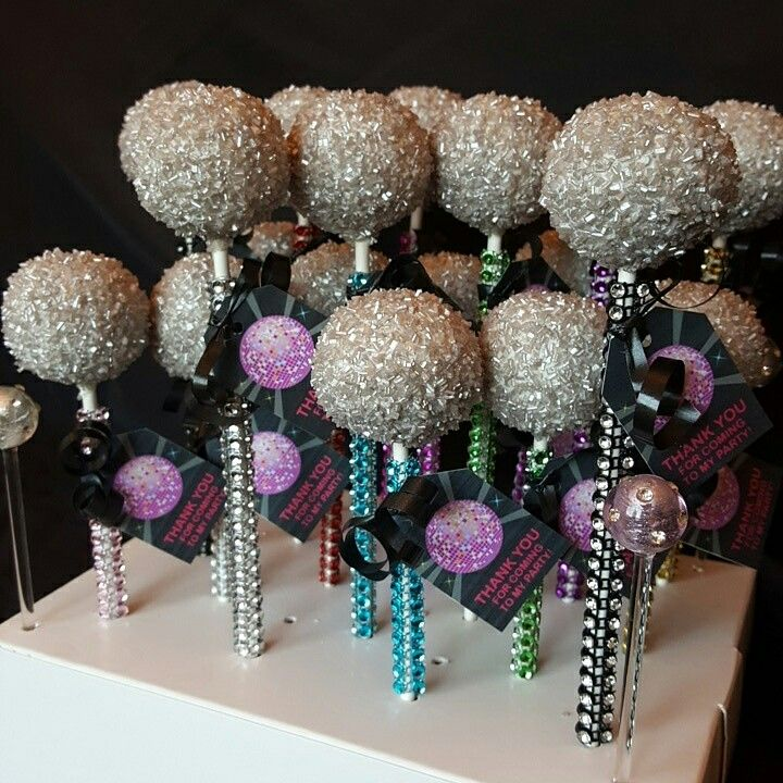 Disco Ball Party Decorations: Disco Ball Cake Pops …