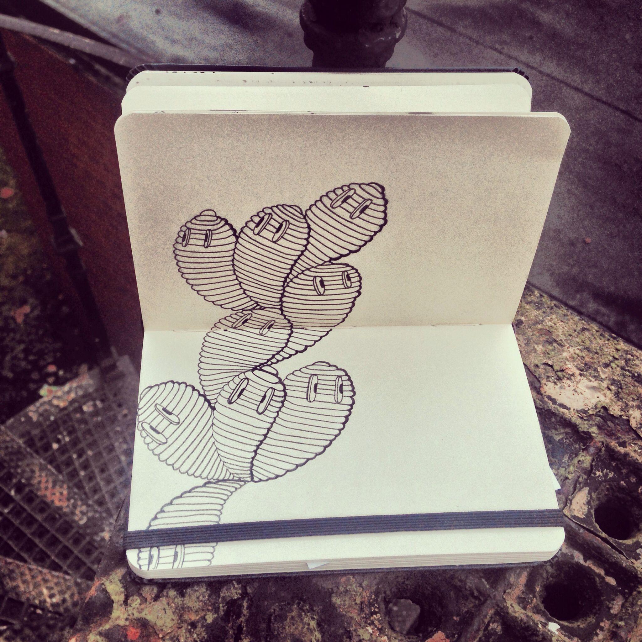 moleskine pocket sketch by miss wah