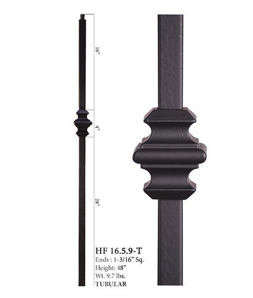 Features The 16 5 9 Single Knuckle Iron Newel Features A Single 4