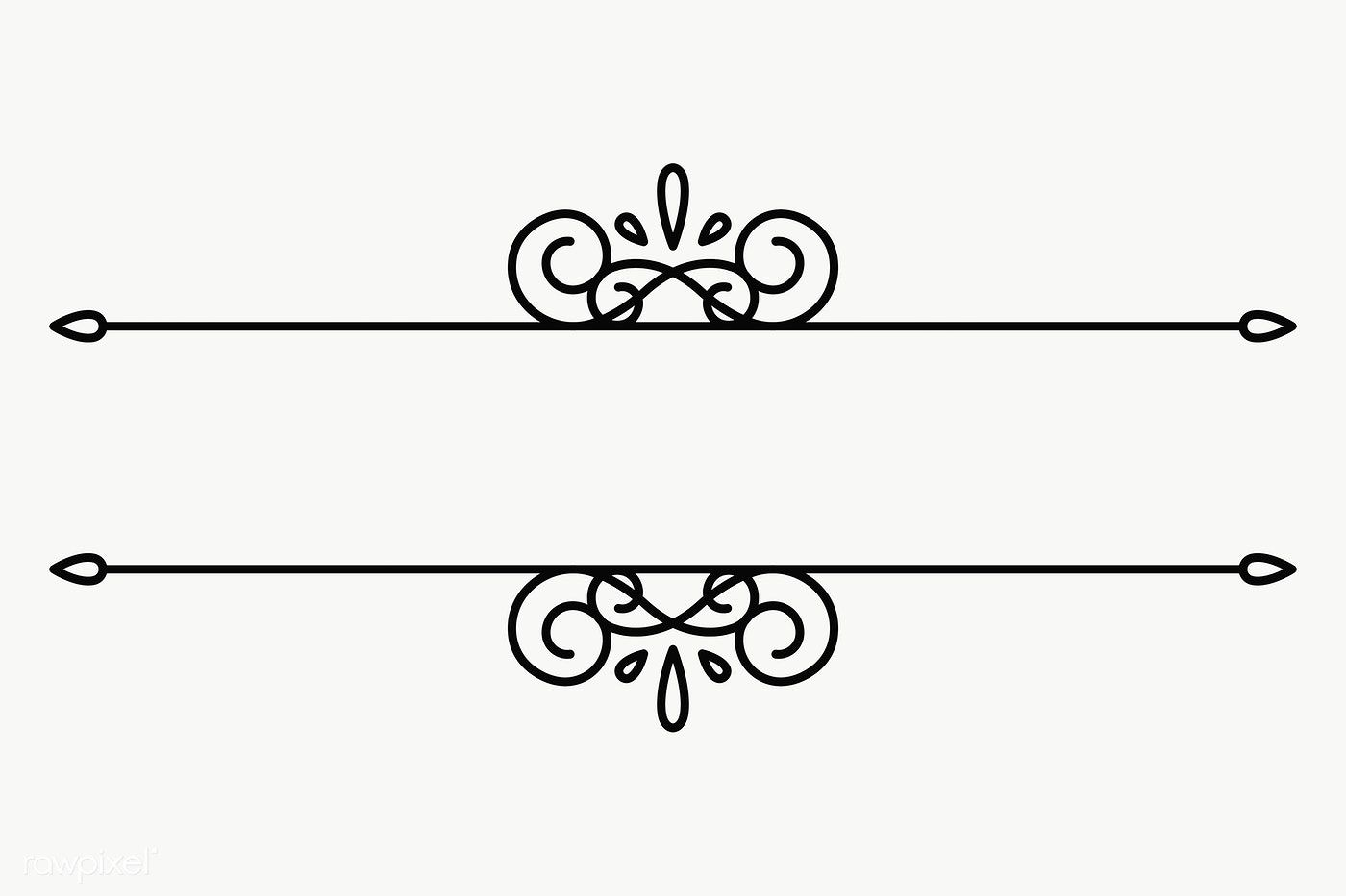 Vintage Line Frame Transparent Png Premium Image By Rawpixel Com Aew Lettering Fonts Vintage Frames Monogram Stencil
