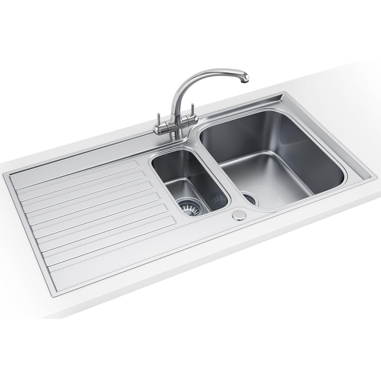 Etonnant Franke Ascona ASX 651 Stainless Steel 1.5 Bowl Inset Sink