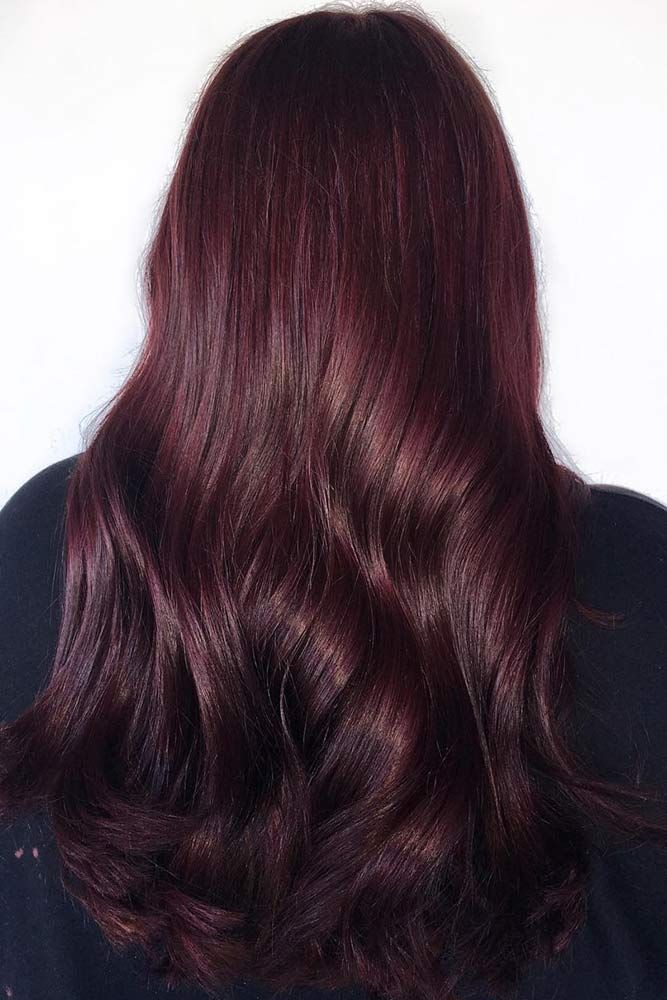 Hair Color 2017 2018 Deep Aubergine Redhair Brunette Would