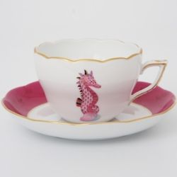 I love collecting teacups (: I have never seen one with a seahorse on it!