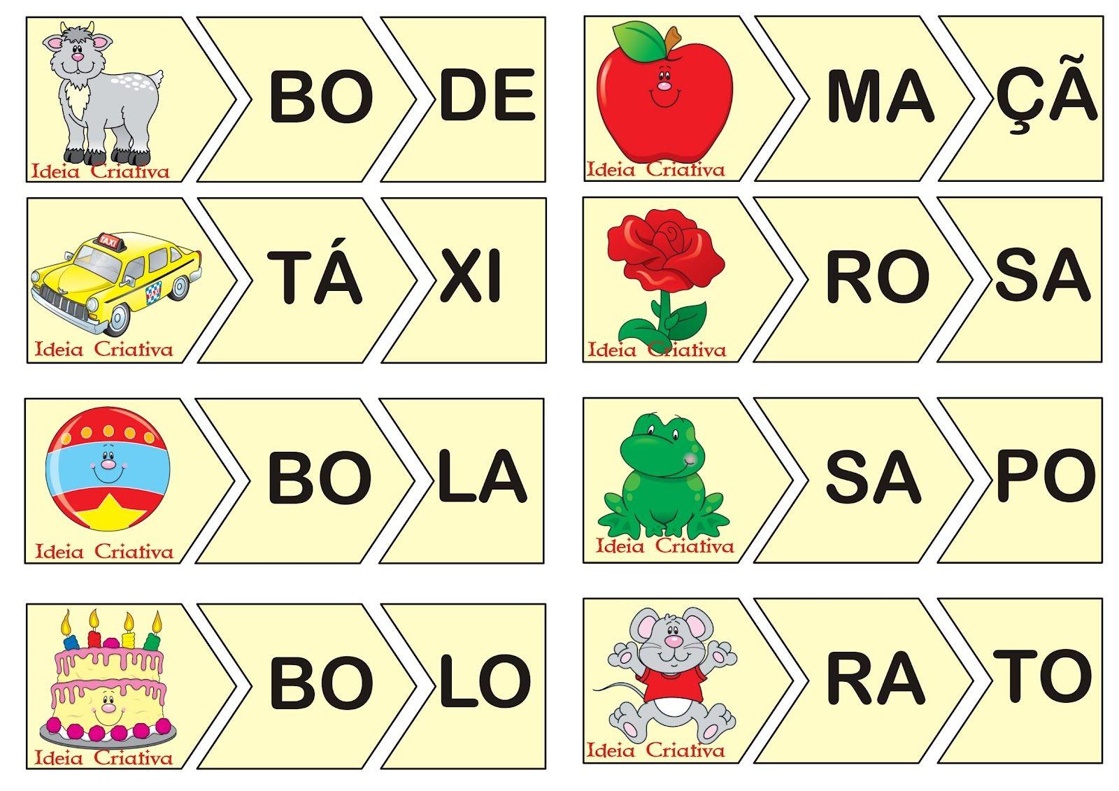 Famosos Jogo Educativo Leitura Divertida 2 Sílabas… | Alfabetização  XN45
