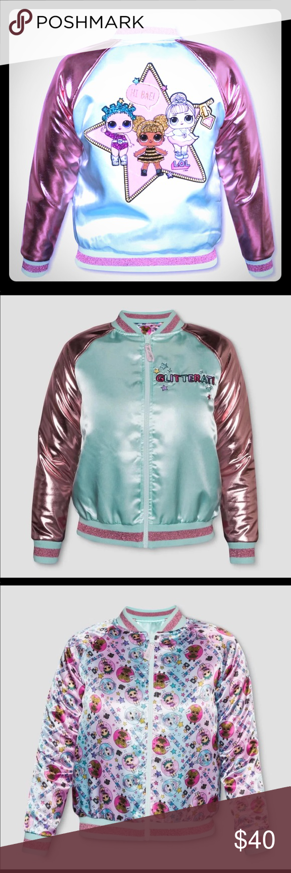 Lol Surprise Doll Bomber Jacket Small Lol Surprise Dolls Bomber Jacket Size Small Super Cute With Jeans And Some High Top Wedged Glittery Tennis S Chaquetas [ 1740 x 580 Pixel ]