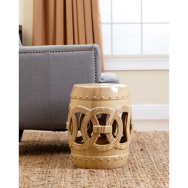Fantastic Abbyson Living Moroccan Antique Beige Ceramic Garden Stool Machost Co Dining Chair Design Ideas Machostcouk